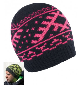 Result Nordic Knitted Hat Pink