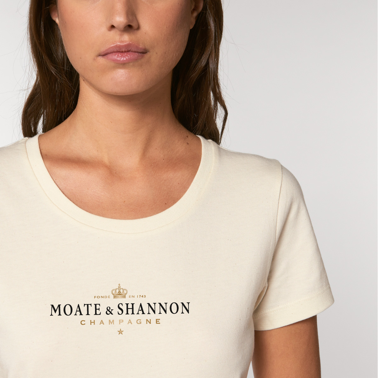 Moate & Shannon - BuyIrishOnline Ladies' fitted Organic T