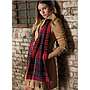 Beechfield Classic Check Scarf red 2